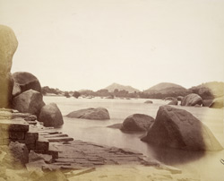The River Tungabhadra from the River Temple, Vijayanagara 1394